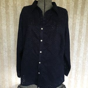 Avenue Button Down Top